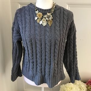 Philosophy Grey Cable Knit Chenille Sweater XS